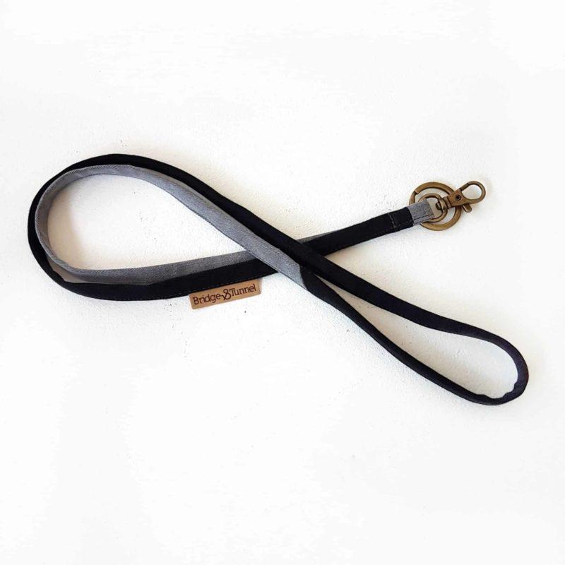 Denim fashion schlüsselband schlüsselanhänger lanyard keychain jeans Bridge&Tunnel upcycling we design society