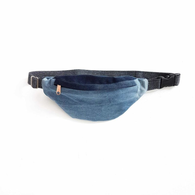 Hipbag blau Denim Upcycling
