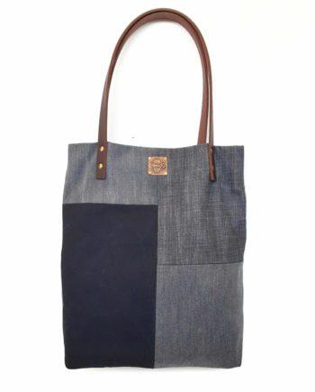 Shopper Denim Jeans Patchwork Totebag