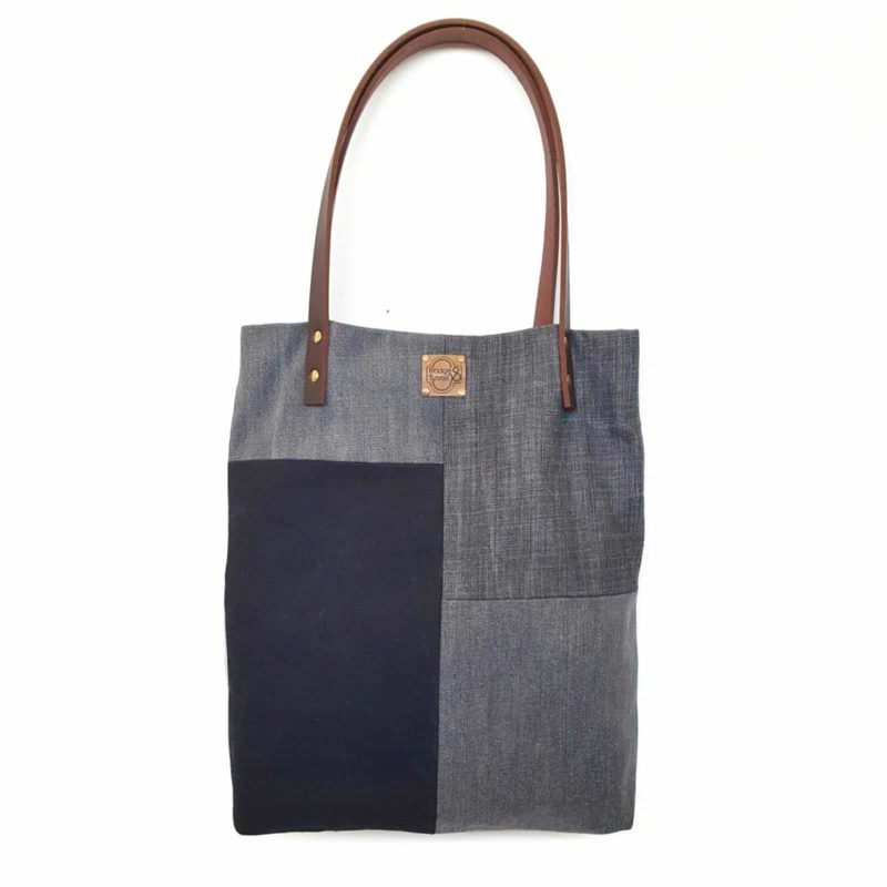 Shopper Denim Jeans Patchwork Totebag