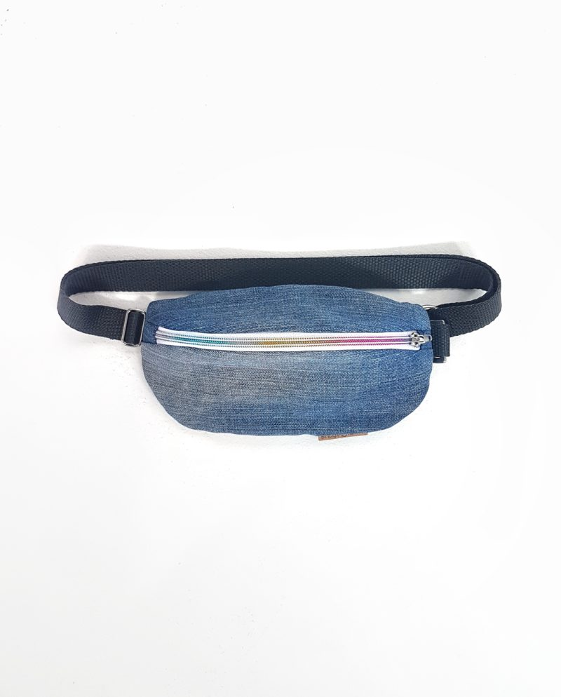 Bum Bag Hipbag Fanny Pack Bauchtasche festival Fair Fashion Upcycling Jeans Denim
