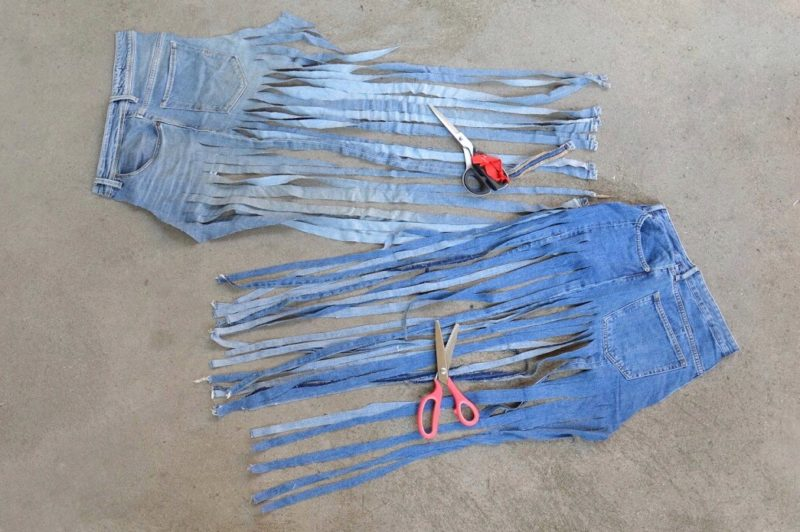 diy tutorial jeans denim wallhanging