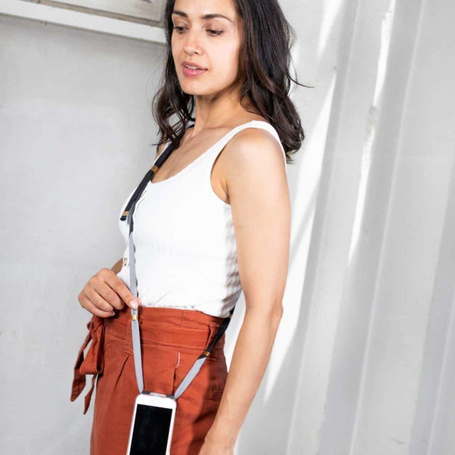 Handykette Handyband phonechain phonstrap Denim Jeans Hamburg Upcycling