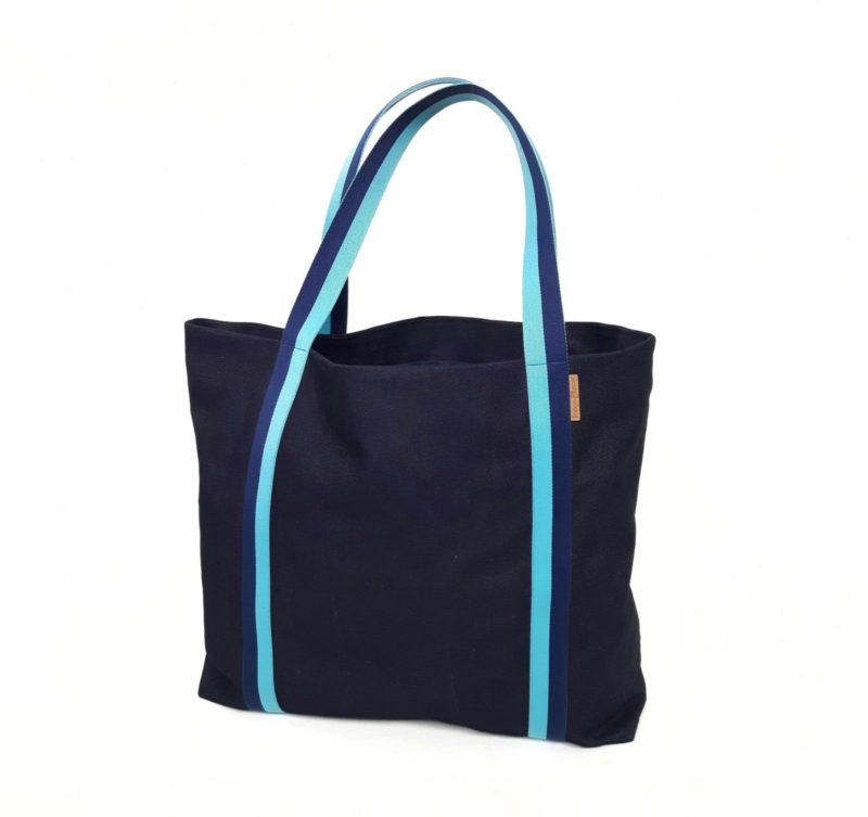 strandtasche beachbag city shopper denim