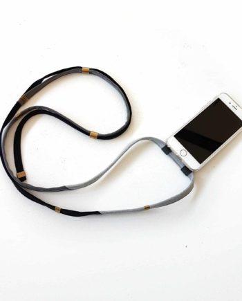 Handykette handyband Bridge&Tunnel Jeans Denim blau Messing phonechain phonestrap