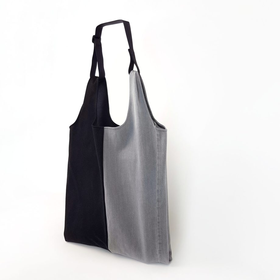 Shopper limone jeans black gelb upcycling