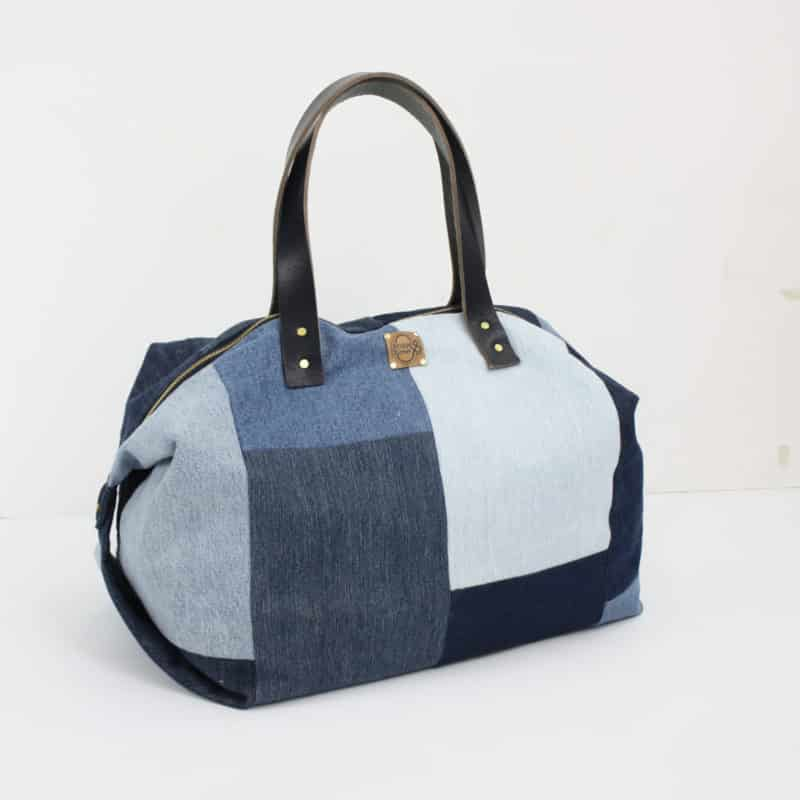 Shopper denim Jeans blau Damentasche Handtasche