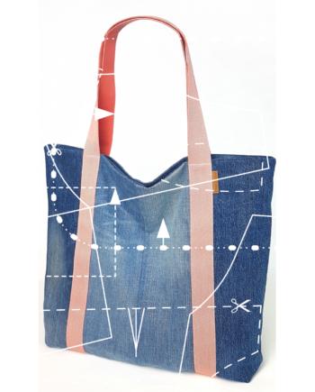 Summerbag Beachbag Strandtasche CIty Shopper customized Jeans