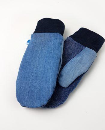 Handschuhe Fäustlinge Jeans Denim Upcycling